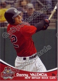 2009 New Britain Rock Cats Team Set (Danny Valencia RC)