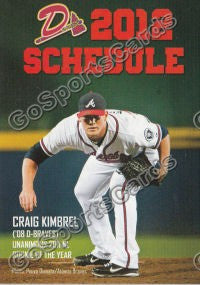 2012 Danville Braves Pocket Schedule Flat (Craig Kimbrel)