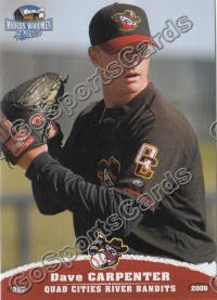 2009 Quad Cities River Bandits Dave David Carpenter