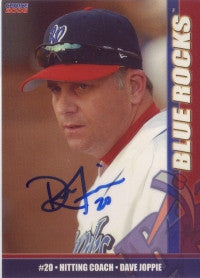 Dave Joppie 2006 Choice Wilmington Blue Rocks #32 (Autograph)