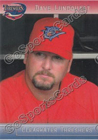 2012 Clearwater Threshers Dave Lundquist