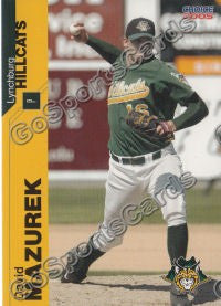 2005 Lynchburg Hillcats David Mazurek