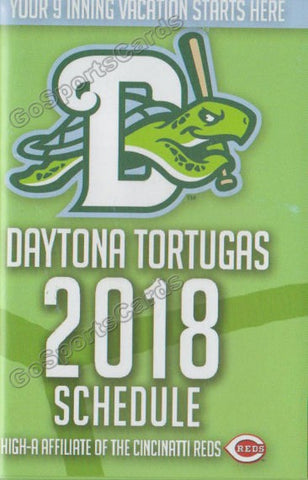 2018 Daytona Tortugas Pocket Schedule