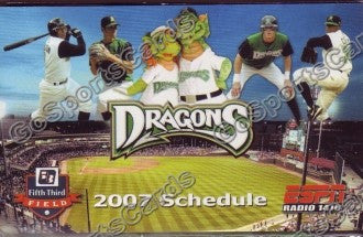 2007 Dayton Dragons Pocket Schedule