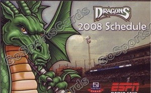 2008 Dayton Dragons Pocket Schedule