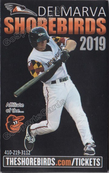 2019 Delmarva Shorebirds Pocket Schedule