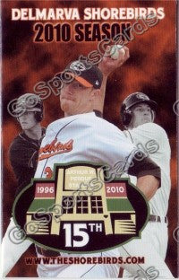 2010 Delmarva Shorebirds Pocket Schedule