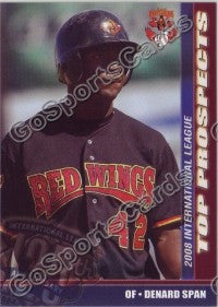 2008 International League Top Prospects Denard Span