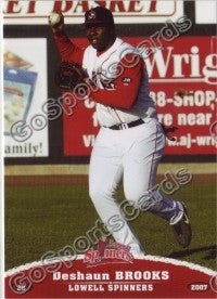 2007 Lowell Spinners Deshaun Brooks