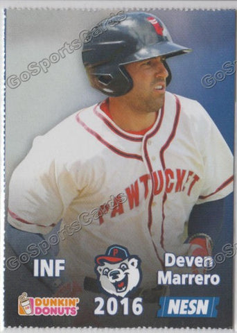 2016 Pawtucket Red Sox SGA Dunkin Donuts Deven Marrero