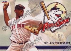 2008 Pawtucket Red Sox Devern Hansack