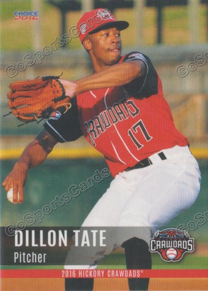 2016 Hickory Crawdads 2nd Team Set