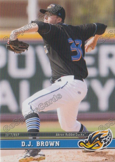 2017 Akron RubberDucks DJ Brown