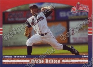 2008 Lowell Spinners Drake Britton