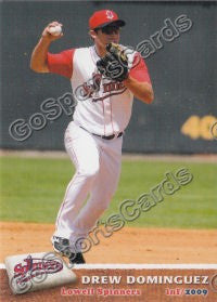 2009 Lowell Spinners Drew Dominguez