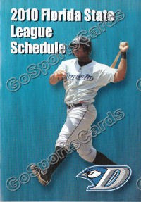 2010 Dunedin Blue Jays Pocket Schedule (Tall)