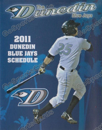 2011 Dunedin Blue Jays Pocket Schedule (Travis D'Arnaud)