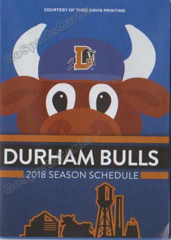 2018 Durham Bulls Pocket Schedule