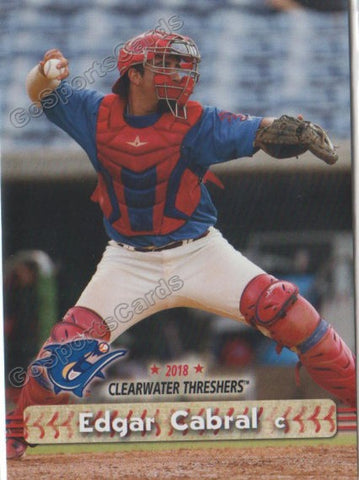 2018 Clearwater Threshers Edgar Cabral