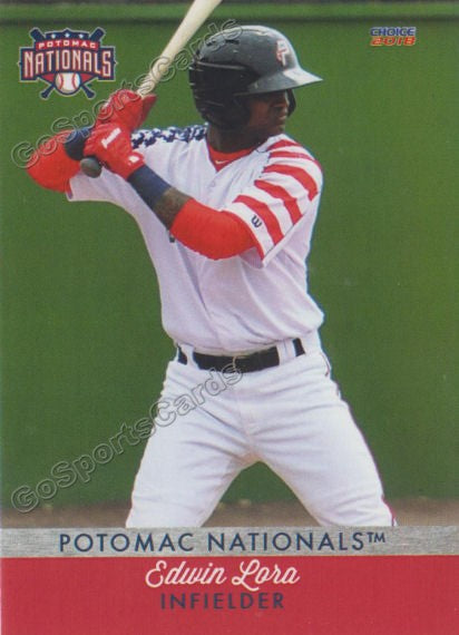 2018 Potomac Nationals Edwin Lora