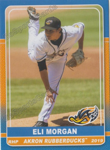 2019 Akron Rubber Ducks Eli Morgan