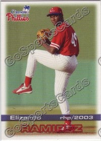 2003 Clearwater Phillies Elizardo Ramirez