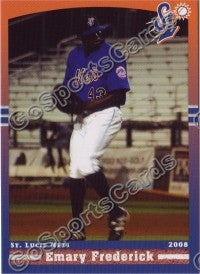 2008 St Lucie Mets Emary Frederick