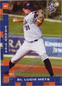 2007 St Lucie Mets Eric Brown