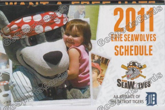 2011 Erie Seawolves Pocket Schedule