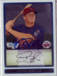 Evan Bigley 2009 Bowman Chrome Prospects (Autograph)