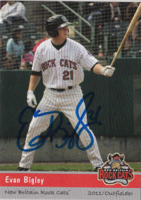 Evan Bigley 2011 New Britain Rock Cats (Autograph)