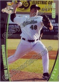 2008 Clinton LumberKings Evan Reed