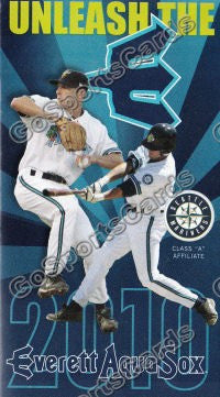 2010 Everett Aquasox Pocket Schedule