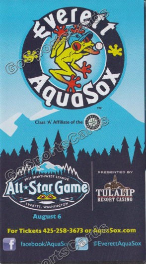 2013 Everett AquaSox Pocket Schedule