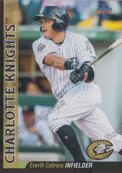 2017 Charlotte Knights Everth Cabrera