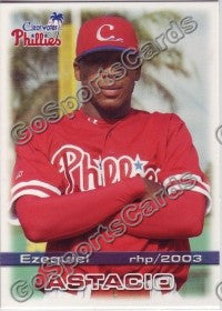 2003 Clearwater Phillies Ezequiel Astacio