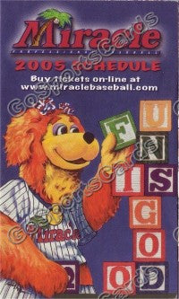 2005 Fort Myers Miracle Pocket Schedule