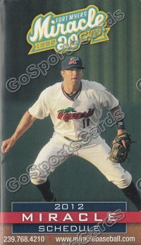 2012 Fort Myers Miracle Pocket Schedule 20th Anniversary (Brian Dozier)