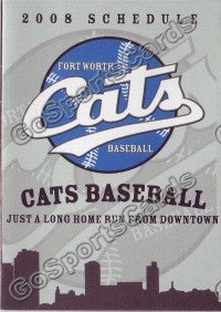 2008 Fortworth Cats Pocket Schedule
