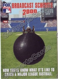 2000 Fox MLB Pocket Schedule