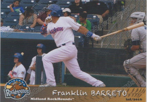 2016 Midland RockHounds Franklin Barreto