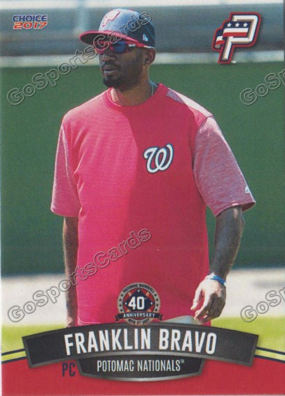 2017 Potomac Nationals Franklin Bravo