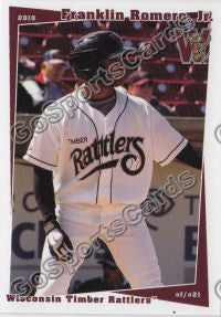 2010 Wisconsin Timber Rattlers Franklin Romero Jr
