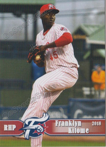 2018 Reading Fightin Phils Franklyn Kilome