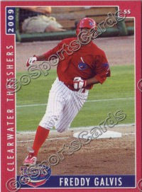 2009 Clearwater Threshers Freddy Galvis