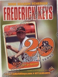 2008 Frederick Keys Spoone Pocket Schedule
