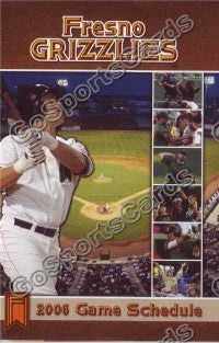2006 Fresno Grizzlies Pocket Schedule