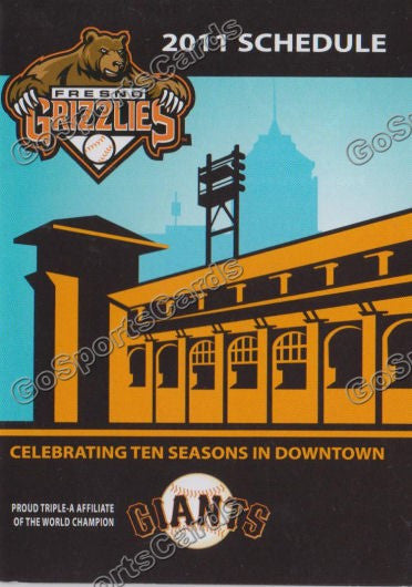 2011 Fresno Grizzlies Pocket Schedule