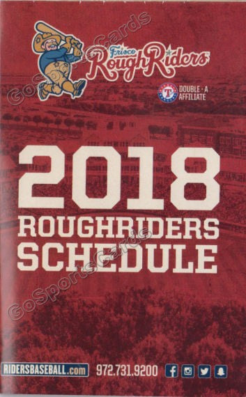 2018 Frisco RoughRiders Pocket Schedule