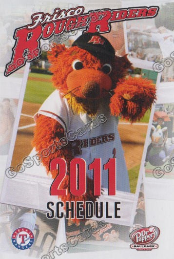 2011 Frisco RoughRiders Pocket Schedule